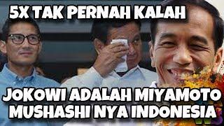 Tidak Terkalahkan dalam 5 Kali Pemilu, Jokowi Jadi Miyamoto Musashi-nya Indonesia