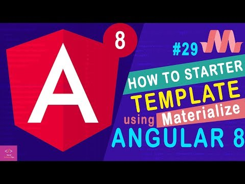 🔥How to Starter Template using Materialize in Angular 8 thumbnail