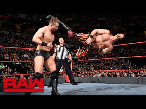 Seth Rollins & Finn Bálor vs. The Miz & The Miztourage - 2-on-3 Handicap Match: Raw, March 5, 2018