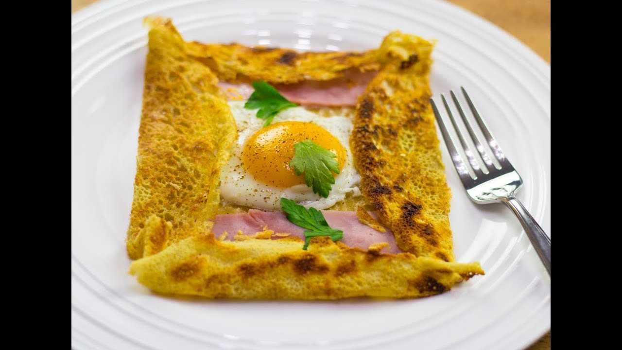 Galette De Bretagne Buckwheat Crepe Recipe Youtube