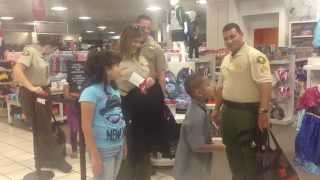 Imperial County Sheriff's Office deputies take kids shopping