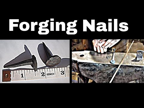 Forging Nails Using a Nail Header