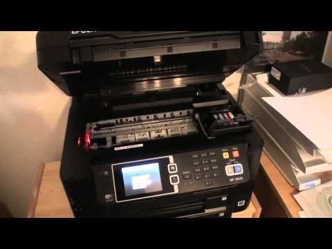 Epson WorkForce 645 Wireless Printer with Scanner, Copier and Fax (C11CB86201) from YouTube · Duration:  3 minutes 39 seconds