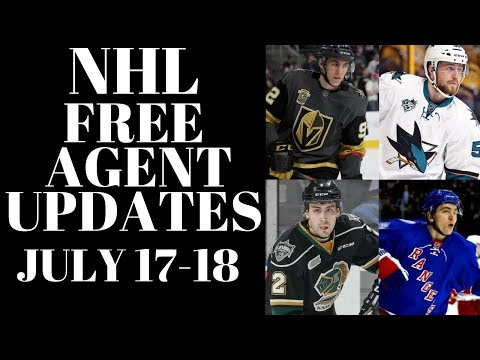 NHL Free Agents 2018 - Vesey, Tierney, Saros + more