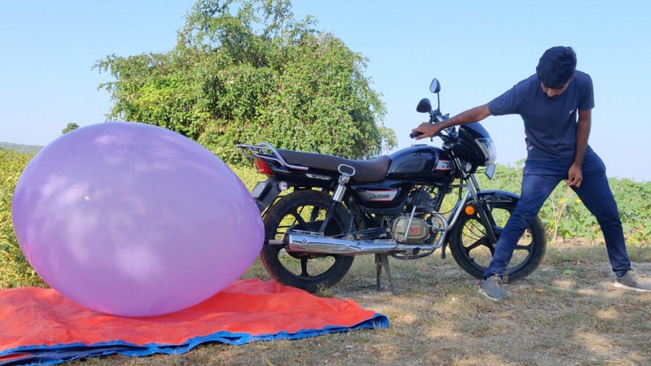 Biggest Monster Balloon vs Bike - Experiment