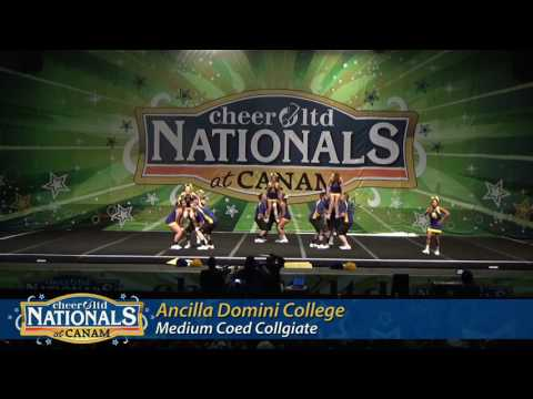 Ancilla College Cheer - Medium Coed - Canam Nationals 2017