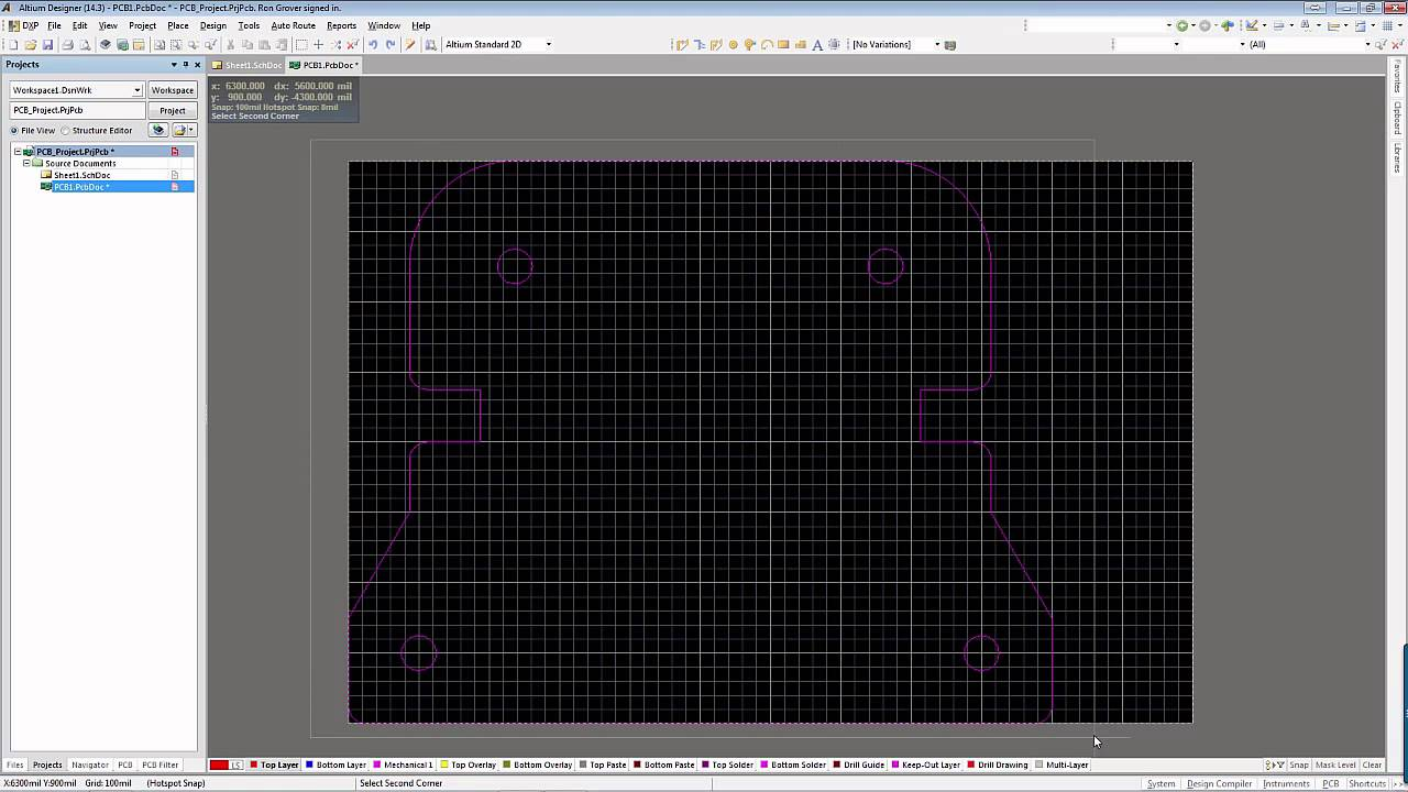 Altium Designer Defining The Pcb Board Shape Youtube Circuit Design Over Green Background Vector Illustration
