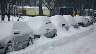Видео для истории - Снежный коллапс в Харькове 1-е Марта 2018