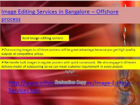 Image Editing Services in Bangalore - Offshore process
