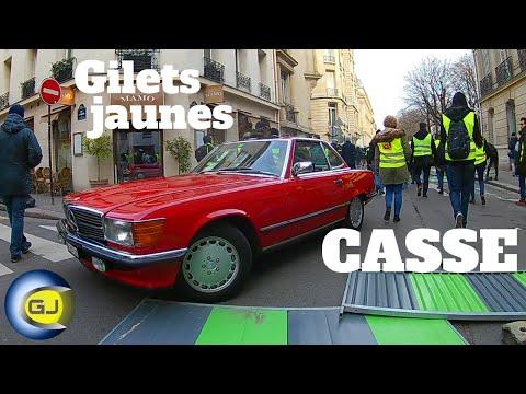 Acte 13 gilets jaunes Paris : les temps forts. 9 février 2019. Casseurs.