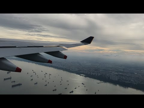 Singapore Airlines Airbus A330-300 Beautiful Takeoff from Singapore Changi Airport