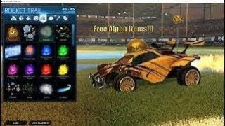 How to get Any item for free on rocket league l Alpha console l