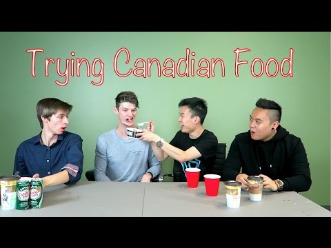 Australian Tries Canadian Food!
