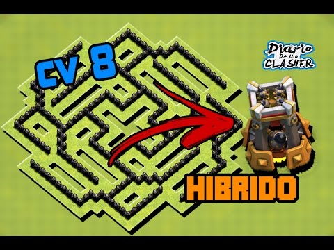 Melhor Layout Cv8 Hibrido - #2 Com Torre De Bomba - [ BestTh8 Hybrid Base Bomb Tower] - CoC