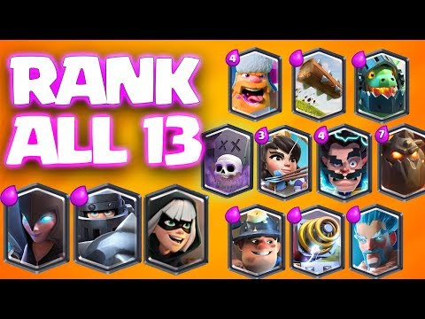 RANKING ALL 13 LEGENDARY CARDS in CLASH ROYALE
