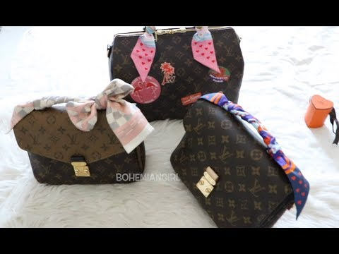 HOW I TIE TWILLY/BANDEAU ON MY LOUIS VUITTON BAGS || POCHETTE METIS & SPEEDY B30