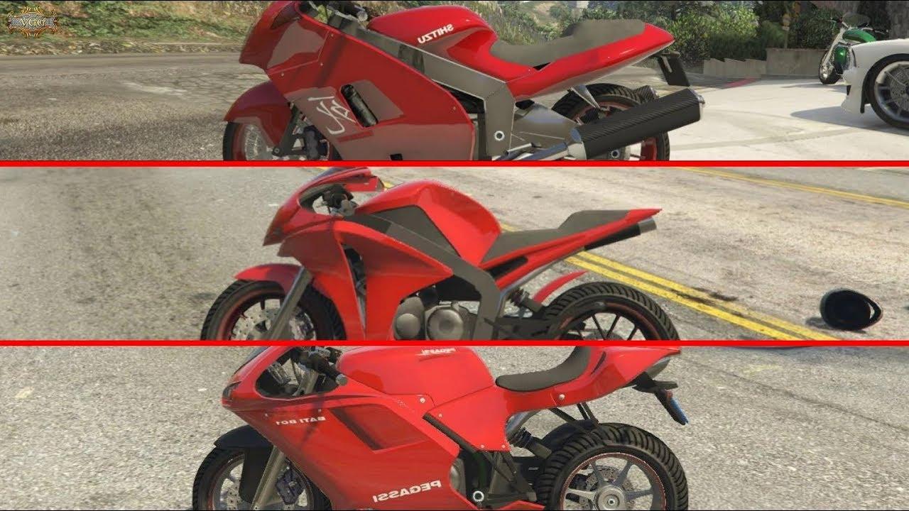 Hakuchou Vs Double T Bati Motorcycle Drag Race Gta V