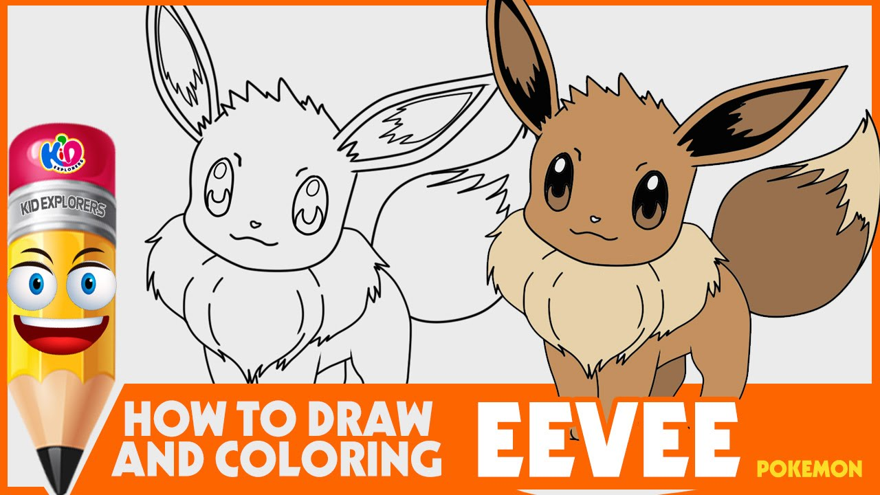 how to draw and coloring eevee youtube