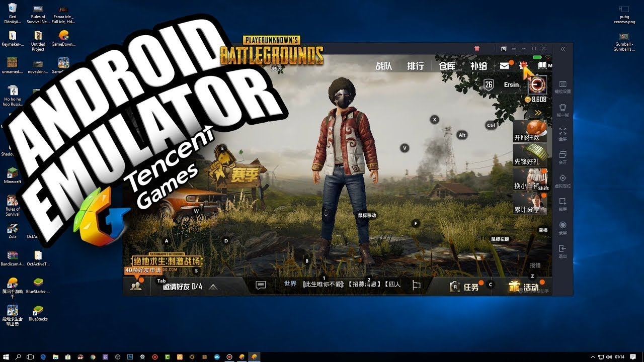 Pubg Mobile Playing from a Computer - Graphics Settings - Android Emulator  - DOWNLOAD PC-