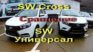 Сравнение и Тест Лада Веста SW &Лада Веста SW CROSS. Lada Vesta SW Cross. Лада Веста Универсал.