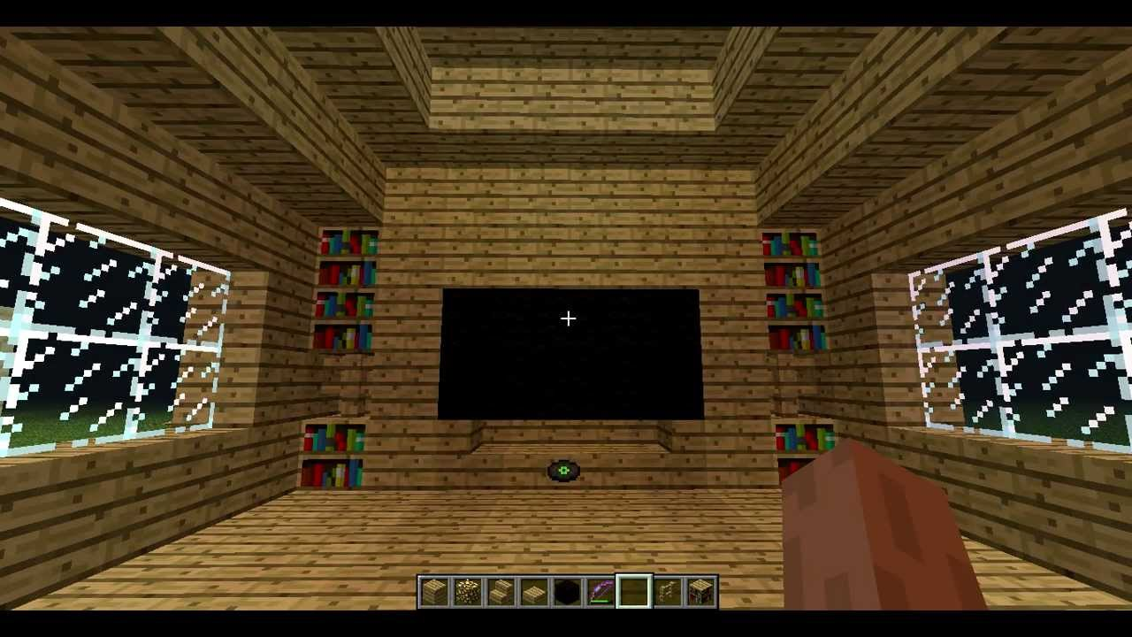 Minecraft how to make a tv youtube - How to make a nice living room in minecraft ...