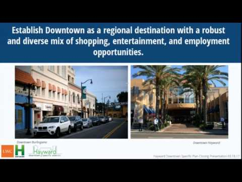 City of Hayward Downtown Specific Plan & EIR 3-18-2017