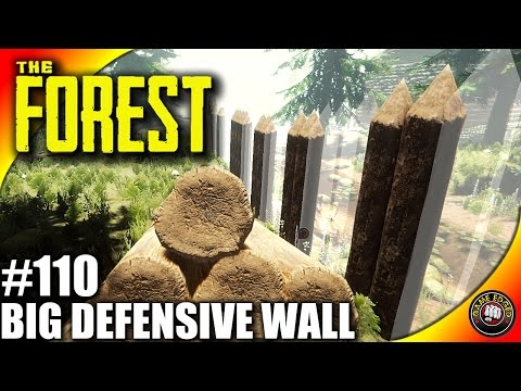 The Forest Gameplay EP110 - Big Defensive Wall and Gate - Let's Play S16EP110 (Alpha V0.44)