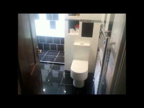 White and black retro bathroom