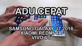 Samsung Galaxy J7 2016 vs Vivo V5 vs Xiaomi Redmi 4A Indonesia Adu Cepat Bagus mana Performanya ?