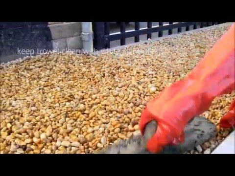 Pour On Gravel Binder installation - Small projects - YouTube