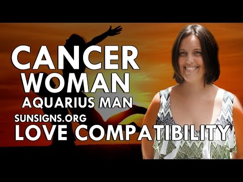 Aquarius man cancer woman sexually