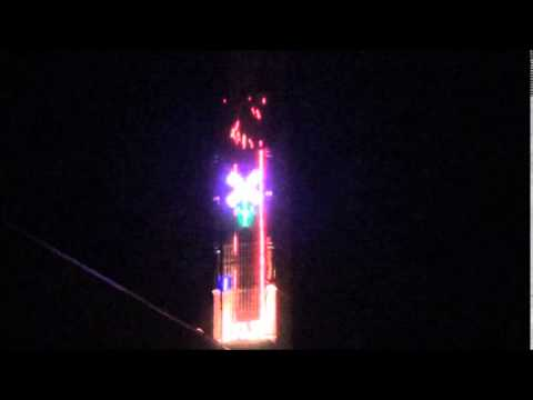 Asylum 49 halloween 2012 fire laser light show youtube - Halloween laser light show ...