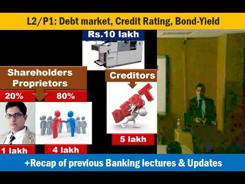 [Economy Lecture] L2/P1: Debt securities: Credit Rating, Bond-Yield, Muni.Bonds, SEBI norms