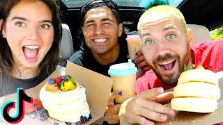 TRYING TIK TOK FAMOUS PANCAKES with NATALIE & TODD!