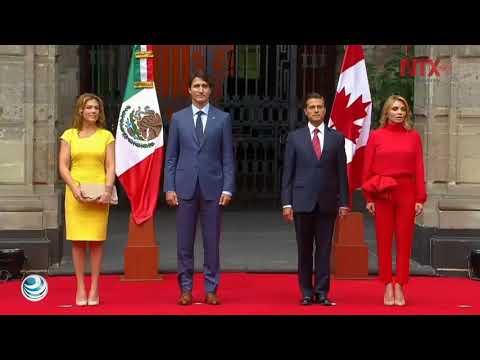 Peña Nieto da bienvenida oficial a Justin Trudeau en Palacio Nacional