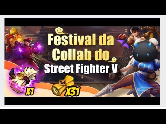 NOVO EVENTO DE COLLAB STREET FIGHTER V