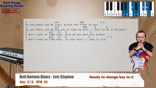 🎹 Bell Bottom Blues - Eric Clapton Piano Backing Track with chords and lyrics