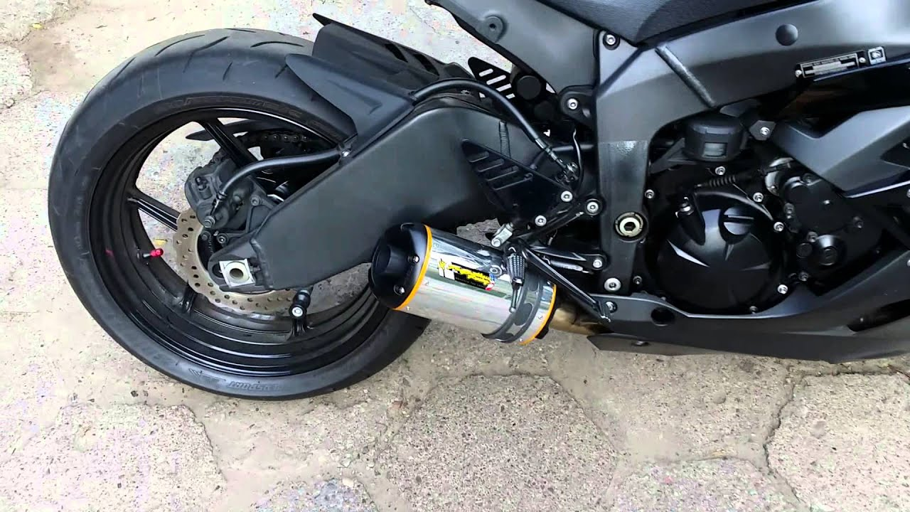 two brothers exhaust without and with db killer p1x kawasaki zx 6r zx6r