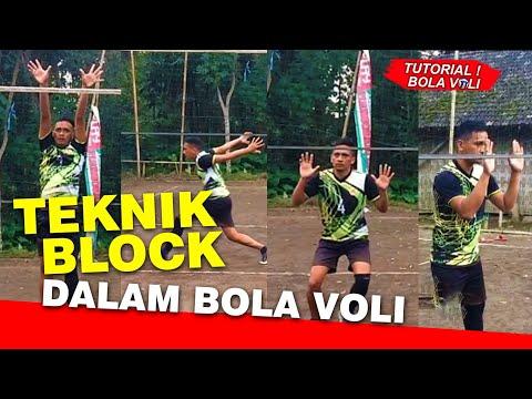 Teknik Blocking dalam bola voli !!  #tutorialbolavoli