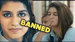 PRIYA PRAKASH VARRIER ||WORLDWIDE BANNED