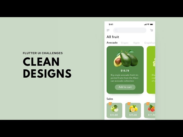 FlutterUI - Clean Designs - Fruits