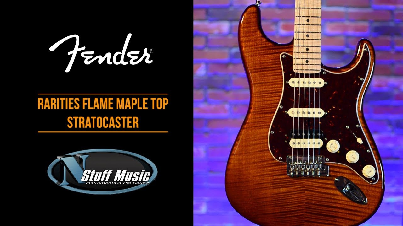 The 10 Best Stratocasters Our Pick Of The Best Strat Guitars >> Fender Rarities Flame Maple Top Stratocaster With S 1 Switching In Depth Demo