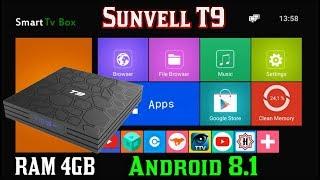 ОТЛИЧНЫЙ TV BOX SUNVELL T9 ANDROID 8.1 RAM 4GB + ROM 32GB ОБЗОР