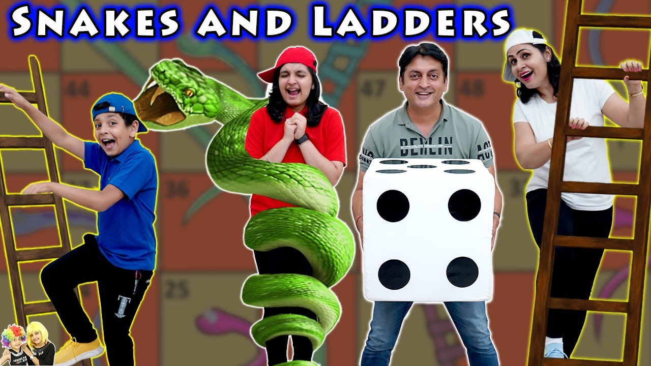 SNAKES AND LADDERS   Comedy Family Challenge   Biggest Saap Sidi   Aayu and Pihu Show