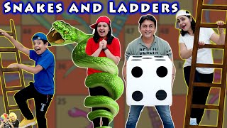 SNAKES AND LADDERS | Comedy Family Challenge | Biggest Saap Sidi | Aayu and Pihu Show