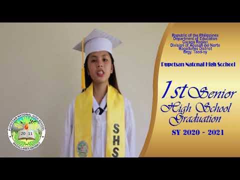 Download Pupotsan NHS 1st Virtual Graduation Ceremony SY 2020-2021