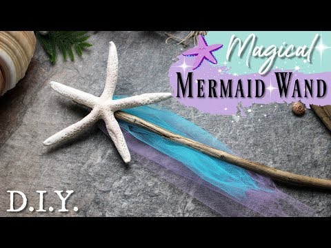 How To Make A Star Fish Mermaid Wand ♥ STARFISH WAND TUTORIAL ♥ Quick And Easy DIY For Mermaid Party