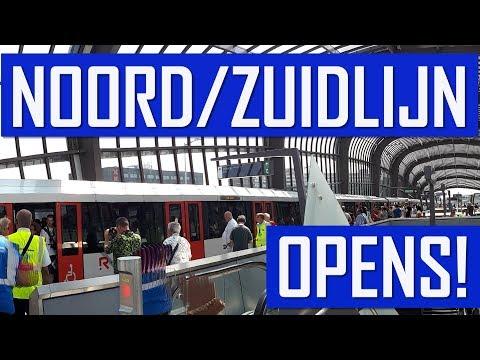 After 15 Years! Amsterdam Metro Noord/Zuidlijn Opens!