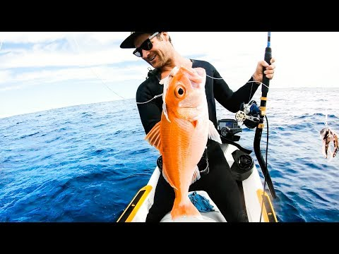 CATCH AND COOK WITH FANS Jet Ski Deep Sea Fishing RUBY SNAPPER - Ep 101