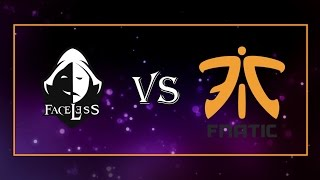 Team Faceless vs Fnatic - The Boston Major: SE Asia Qualifier
